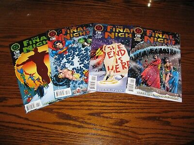 DC Comics - THE FINAL NIGHT 1 - 4 Complete Set!! Glossy VF/VF+ 1996