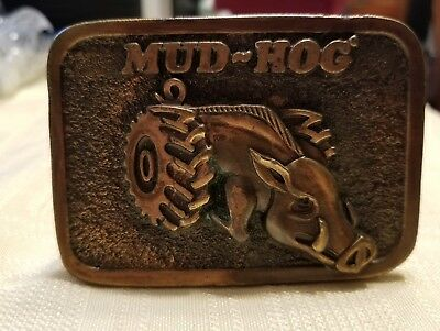 Vintage 1980 Mud Hog Belt Buckle