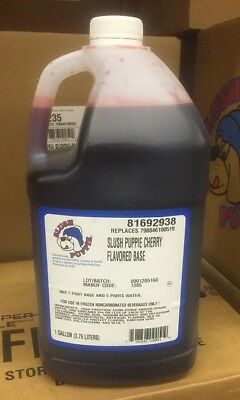 Slush Puppie Cherry Flavored Base 1 Gallon (Makes 6 Finished Gallons)