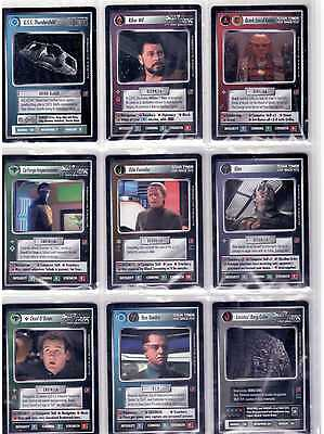 Star Trek CCG Blaze of Glory Complete set without Foils Straight From Packets