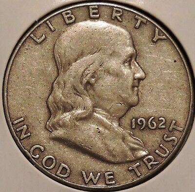 Franklin Half Dollar - 1962-D - Overstock Sale! - $1 Unlimited Shipping -298