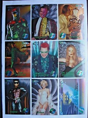 1995 Fleer Batman Forever Metal Complete 8 Card *movie Preview* Chase Set +Bonus