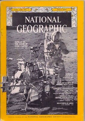 national geographic-JULY 1971-APOLLO 14.