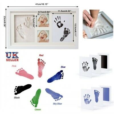 Baby Hand and Foot Print Kit 2D&3D Photo Frame Newborn Unique Keepsake Gifts UK