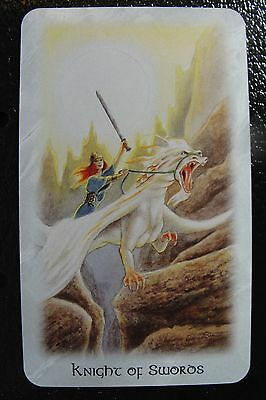 Knight of Swords The Celtic Dragon Tarot Single Replacement Card Excellent
