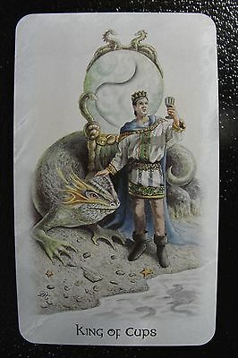 King of Cups The Celtic Dragon Tarot Single Replacement Card Excellent Condition