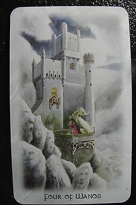 Four of Wands The Celtic Dragon Tarot Single Replacement Card Excellent