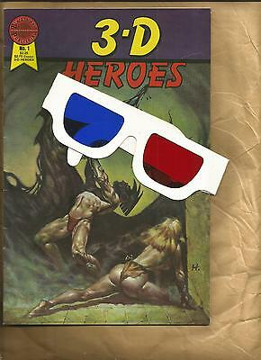 3-D Heroes 1 1986 vfn- Sword and Sorcery 3D Comic book with glasses Blackthorne