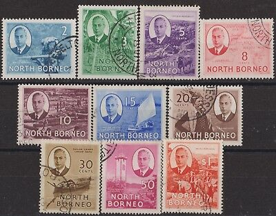 d195) North Borneo. 1950/52. Used. SG 357/58,360 to 367 Local Views