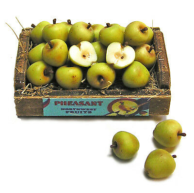 Dollhouse Miniature Crate of Green Apples - Handmade 1:12 scale
