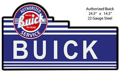 Service Buick Laser Cut Out Reproduction 14.5×24.5