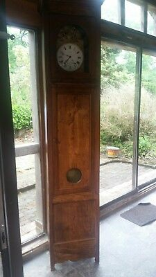 WONDERFUL ANTIQUE FRENCH long case  grand father  CLOCK c1900