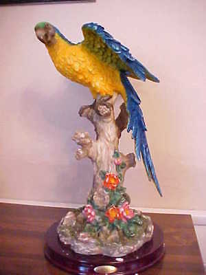 Large La Aninia Parrot Statue Figurine/new With Hang Tags/ Colorful