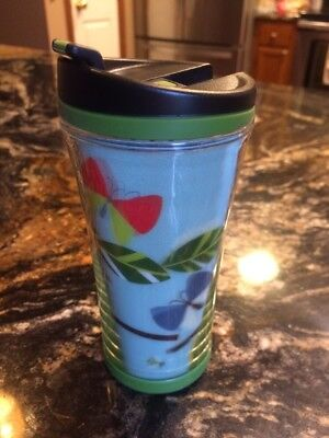 NEW Starbucks 2007 Butterfly Insects Leaves Lenticular Hologram Tumbler 8oz