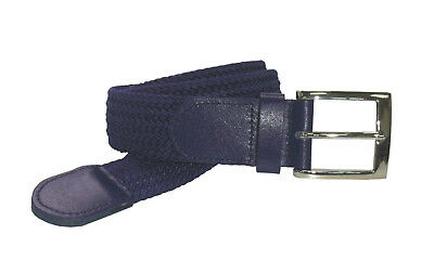 """4001 Navy 1.5"""" Wide Heavy Duty Stretch Belt In Sizes To Fit Most &Fast Delivery"""