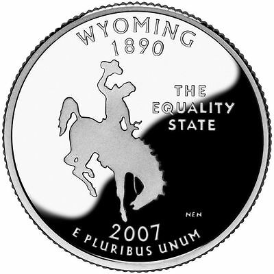 2007 S Silver Gem Proof Wyoming State Quarter 90% Silver