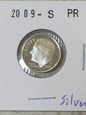 2009 S Proof 90% Silver Roosevelt Dime