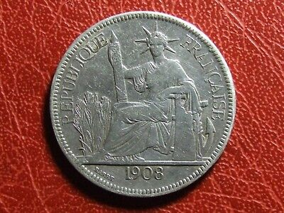 FRENCH INDO-CHINA Piastre de Commerce 1908 A Silver coin