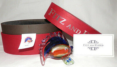 "New Fitz And Floyd ""spike"" Fish Figurine In Gift Box"