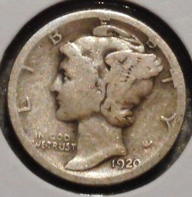 Silver Mercury Dime - 1920-S - Early Dates! - $1 Unlimited Shipping
