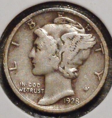 Silver Mercury Dime - 1928 - Early Dates! - $1 Unlimited Shipping