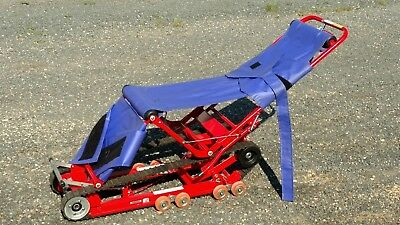 Evacutrac Medical Evacuation Track Chair~Stair Descent Stretcher Backboard VIDEO
