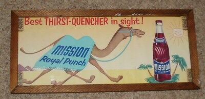 1940's Mission Royal Punch Window Sign