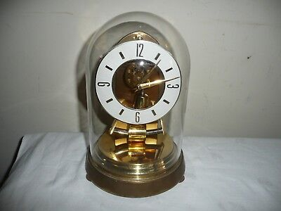 Vintage,  Kundo Electronic Anniversary Clock in Glass Dome, For Restoration.