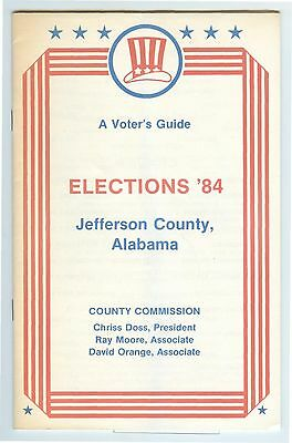 1984 Birmingham, Jefferson County ALABAMA Elections & Voting Guide, with maps