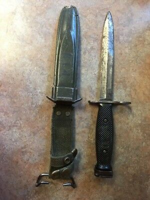 Vietnam M7Bayonet Fighting Knife w/USM8A1 Scabbard (BOC-Bauer Ordinance Company)