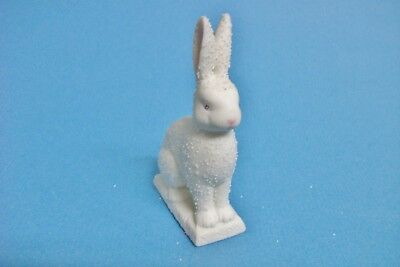 Dept 56 Snowbunny sittting white with pink nose, eyes Department 56 Easter