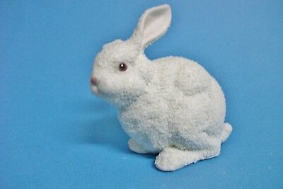 Dept 56 Snowbunny sittting white with pink nose, eyes Department 56 Easter 1997