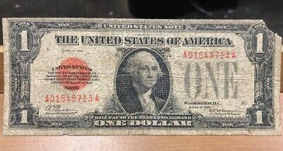 1928 $1 US Red Seal One Dollar Note - Beautiful Original Condition!