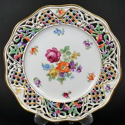 "Schumann Porcelain Chateau Reticulated 8 1/2"" Salad Plate - Set of 6"