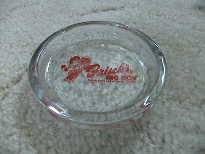 Vintage Frisch's Big Boy Glass Ashtray No Body Takes Care Of You Like Big Boy