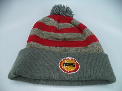 best service fc531 a3450 Houston Rockets NBA Mitchell   Ness Speckled Oatm Hat Cap Toque Beanie Knit  OSFA
