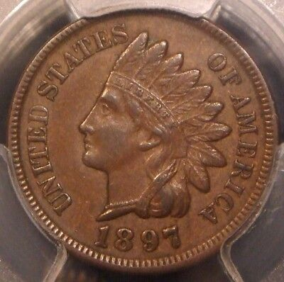 1897 Indian Head Cent, Pcgs Graded Xf45