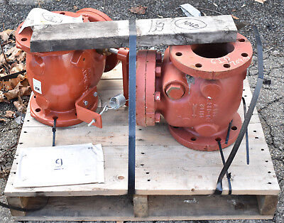 "2 Count Clow Kennedy 4"" Flanged Check Valves"