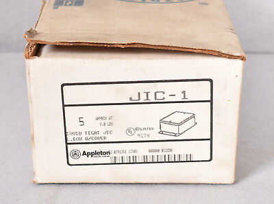 4 Count Appleton JIC-1 Junction Boxes w/ Liquid Tight Covers