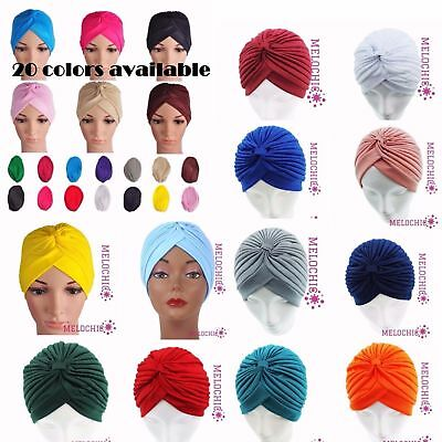 Wholesale 250 Lady Stretchy Turban Head Wrap Band Chemo Bandana Indian Cap Hat