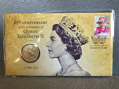 New Uncirculated Queen 65th Coronation Anniversary $1 Coin PNC Limited to 7500