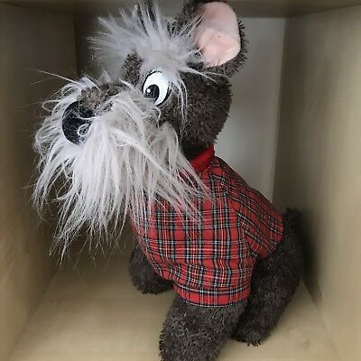 Lady And The Tramp Jock Dog Soft Toy Disney Stamped Exclusive Plush Tartan Coat