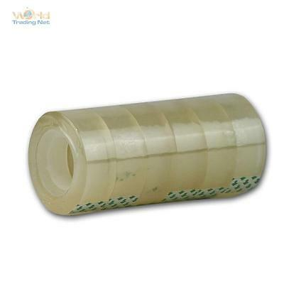 (0,02 €/ M) 6 Casters Adhesive Film Crystal Clear, 19mmx33m, Tape Tape
