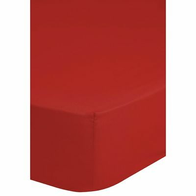 Emotion Lenzuolo con Angoli in Jersey 160-180x200 cm Rosso Letto Matrimoniale