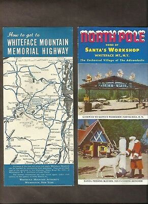 Santa's Workshop New York & Whiteface Mountain Highway New York Brochures Lot