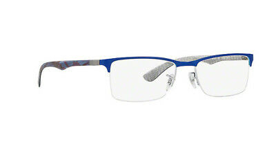 a129086e4a ... coupon code new authentic ray ban frame rx8413 8413 2891 52mm shiny  blue with carbon fiber