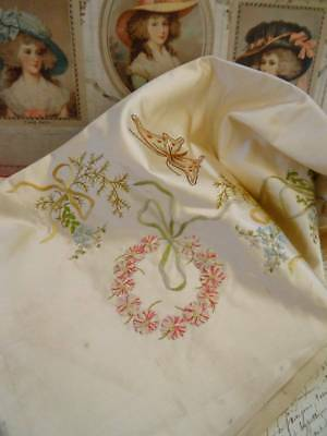 A Stunning Silk Embroidered & Ribbon Work Panel C.1910