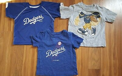 Toddler Boy 3 T-Shirts Los Angeles Dodgers Rams 24 months 2T