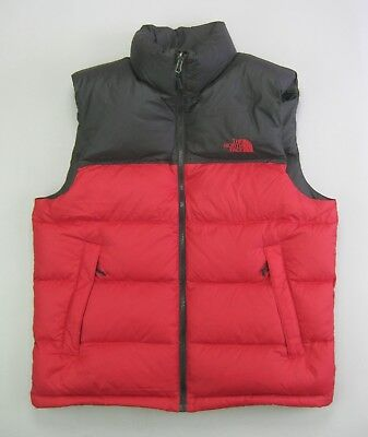 The North Face Nuptse Men's Down Vest 700 Fill Red/Black • MEDIUM
