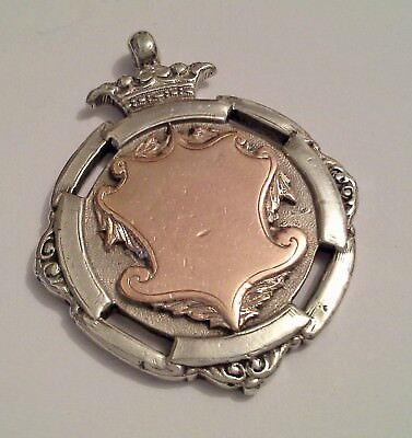 Solid Silver Prize Fob Cricket Club B & R.W.F.C.C. Winners 1924 Gold Fronted
